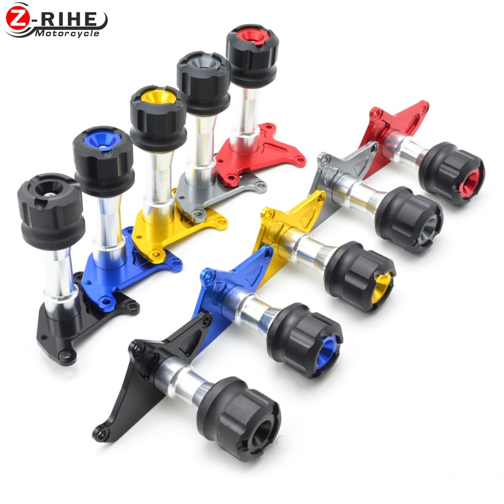 Pair CNC Aluminum Motorcycle Frame Sliders Crash Pad Fairing Protector Modified Accessories Black Red Gold Blue for Honda MSX125