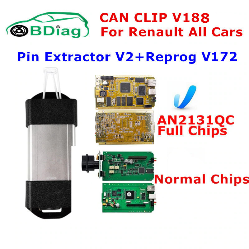 DHL Free Renault Can Clip Interface Newest V160 Add New Model Professional Auto Diagnostic Tool Can Clip Scanner For Renault EYOYO
