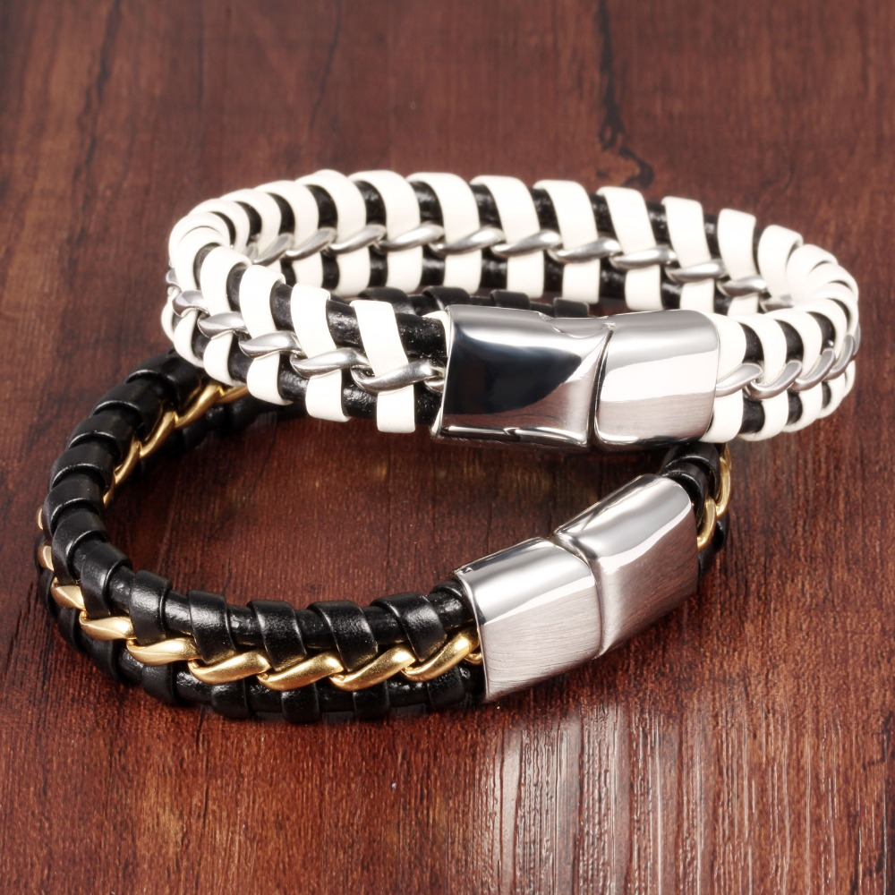 Europe and the United States mens personality tothe leather bracelet adorn article The new black leather