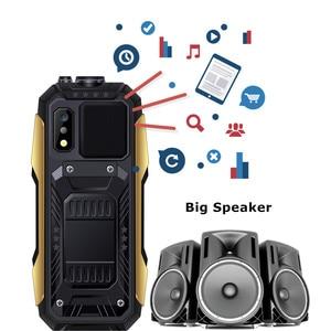 "Image 5 - SERVO X7 Mobile Phone 3 SIM Cards 2.4"" Antenna Analog TV Voice Changing Laser Flashlight Power Bank Russian keyboard Cell Phones"