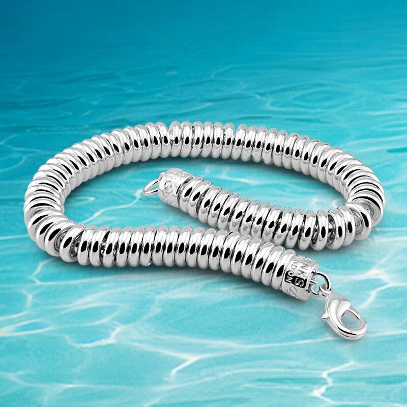 375016770810 ¡Venta caliente! Nuevo brazalete para hombre, pulsera de plata de ley 925  para mujer y hombre; ...