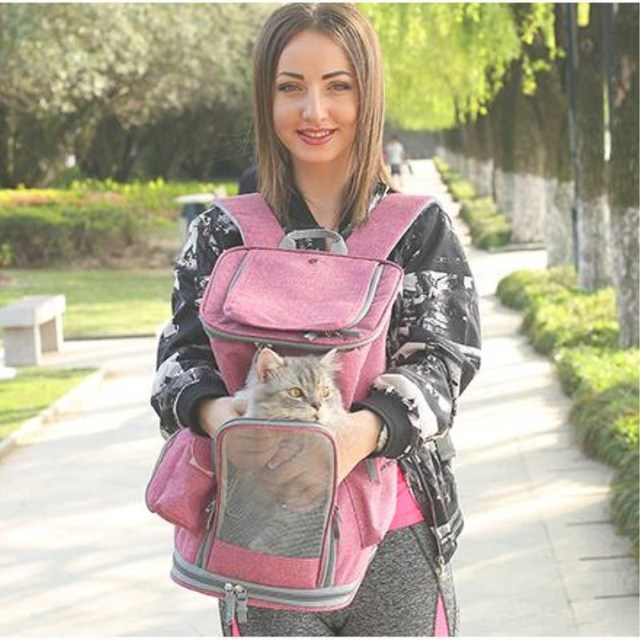 PUPISHE 2019 Luxury Oxford Pet Carrier Backpack For Dog Portable Travel Cats Animal Handbag Outdoor Shoulder Bags Yorkie 3