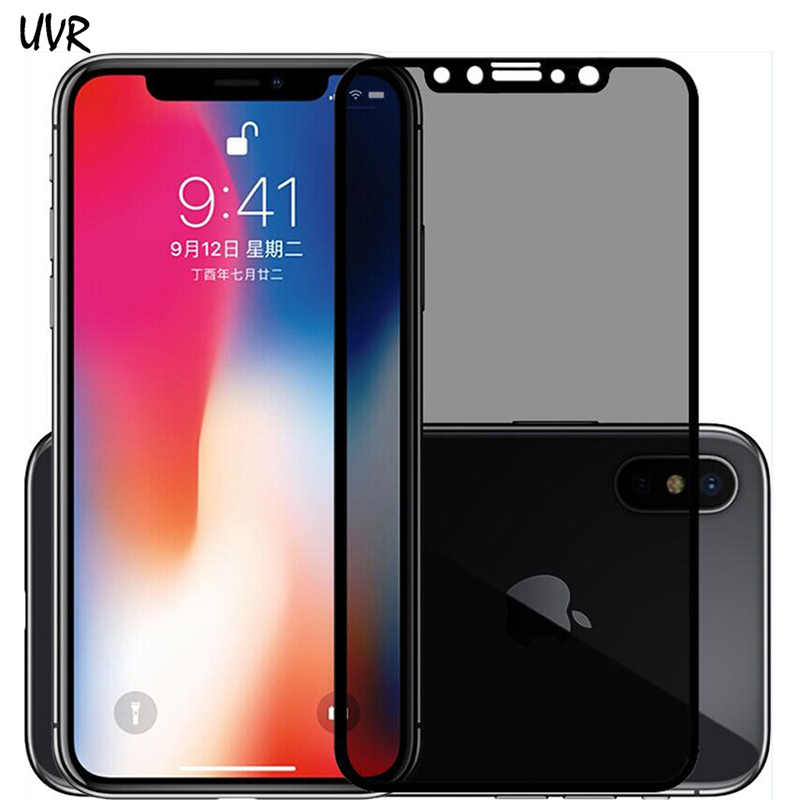 dcbed7659 2PCS Privacy Anti Spy Glass Vidrio Templado For Apple iPhone X XS iPhoneX  Tempered Glass Full