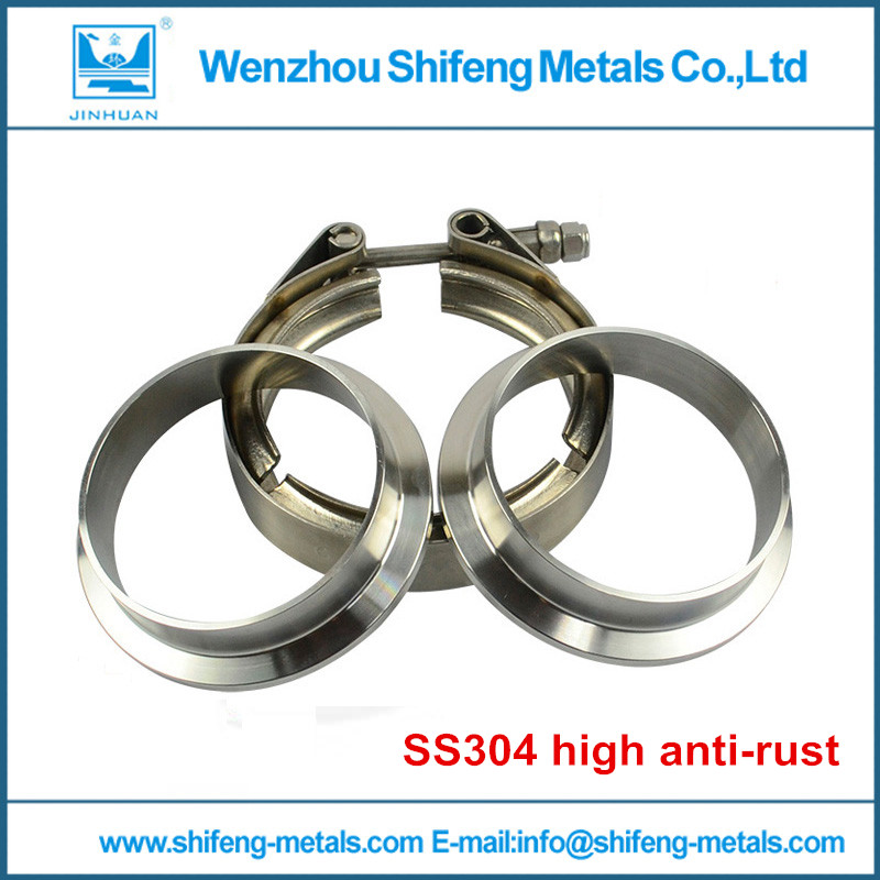 3 V Band clamp flange Kit Stainless Steel 304 Clamp SUS304 Flange For turbo exhaust downpipe