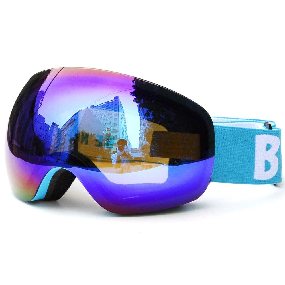 Nouvelles lunettes de Ski d'hiver double lentille Ski Anti-buée UV400 lunettes de Snowboard hommes femmes sphérique patinage sur neige Ski Sports lunettes