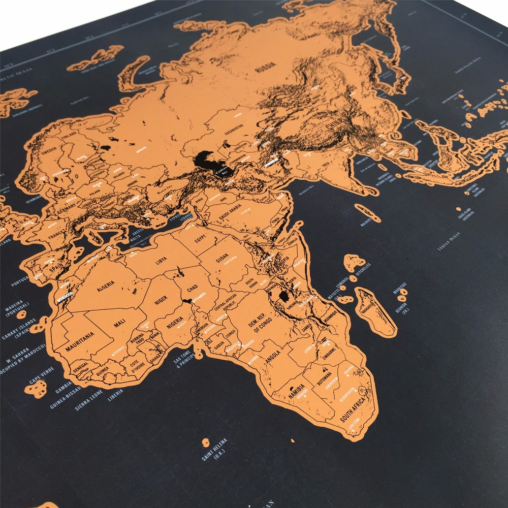 drop shipping deluxe map personalized world map black scratch off  - drop shipping deluxe map personalized world map black scratch off foillayer coating poster xcm scratch off world mapin wall stickers fromhome