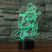 Fireman LED 3D Lamp Creative Night Lamp Colorful Changing LED Touch Table Lamp As Home Decoration