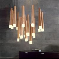 Modern lamp pendant lights crylic Wood match LED indoor lamp ceiling restaurant bar coffee dining room LED hanging light fixture