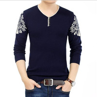 Solid Color Pullover Men V Neck Sweater Men Long Sleeve Shirt Mens Sweaters Wool Casual Dress Brand Cashmere Knitwear Pull