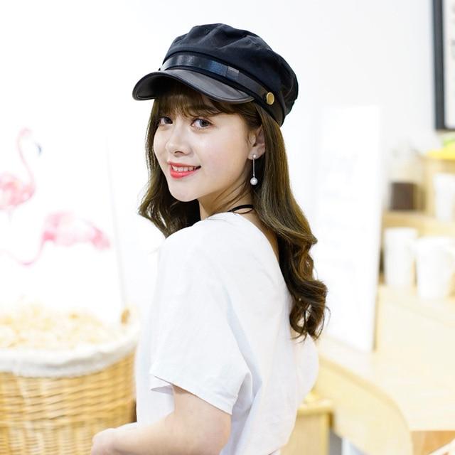 Japanese students hat Unisex s summer cap cotton casquette sun hats girl  female fashion Man Woman college wind casual Retro cap 4b2a732bd3d