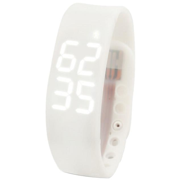 ELOS-New Waterproof Movement Health Pedometer Sleep Monitoring Smart Bracelet Watches white