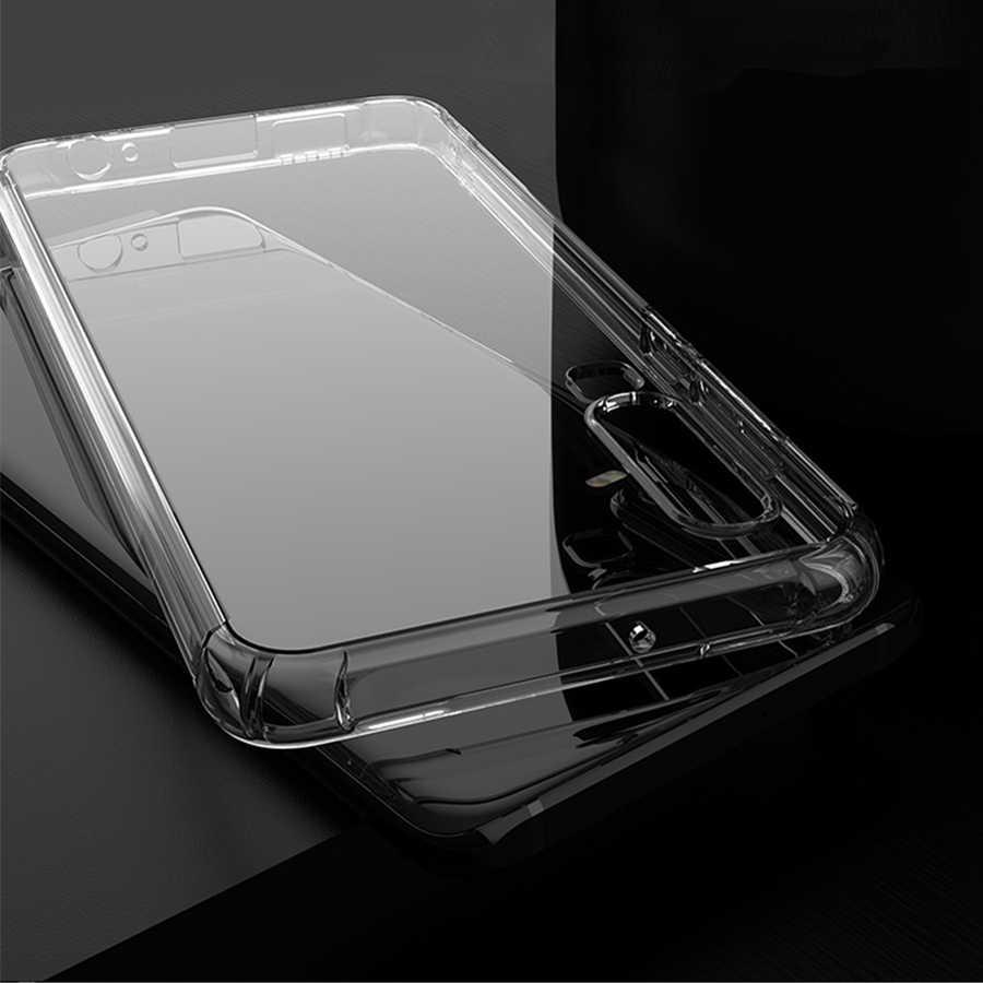 エアバッグシリコンケース Huawei 社 P30 メイト 20 P20 プロ Lite ノヴァ 3e 3i 4 Y6 Y7 プライム 2018 1080P スマート 2019 クリア TPU ソフトバンパーカバー