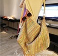 Summer colorful hand woven Women straw bag package large capacity beach bags