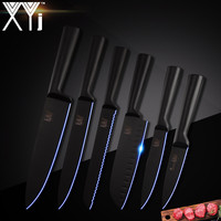 XYj Stainless Steel Knife Kitchen Knives 6 Pcs Set Cutlery Japanese Chef Kitchen Knife Set Fruit Vege Accessories Knife Tools