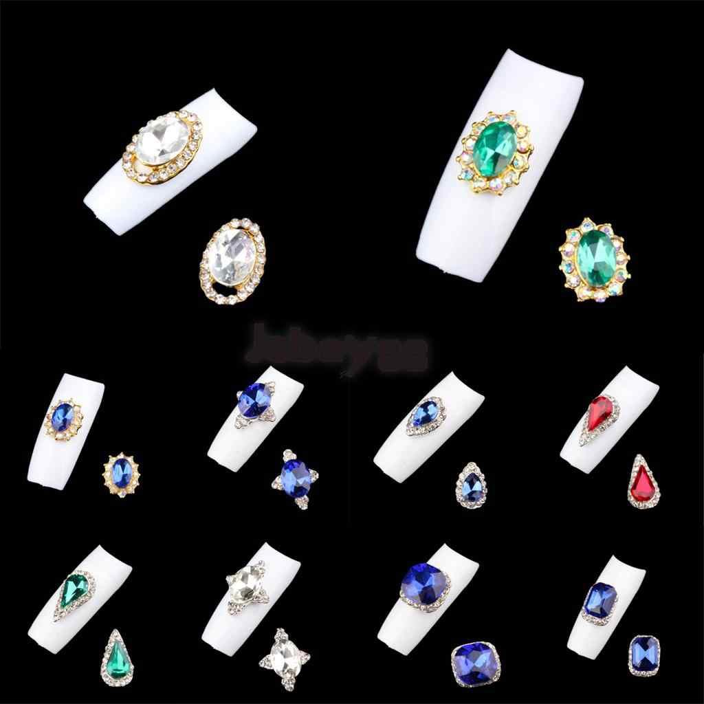 10 pezzi 3D Dei Monili Del Rhinestone Unghie artistiche Pendenti e Ciondoli Glitter Manicure Capovolge La Decorazione Della Cassa Del Telefono FAI DA TE