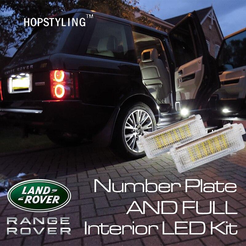 2шт двери автомобиля освещение пространства для ног лампы для с Evoque рендж Ровер землю Rover4 рендж Ровер Спорт Freelander2 2012-2013 Сид любезно света
