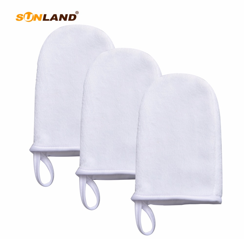 Sinland Microfiber Face Cleansing Gloves Reusable Facial Cloth Pads Makeup Remover Glove 100 Pieces