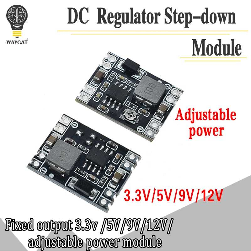 DC-DC Buck Step-down Power Supply Module 5V-12V 24V to 5V 3.3V 9V 12V Fixed Output High-Current