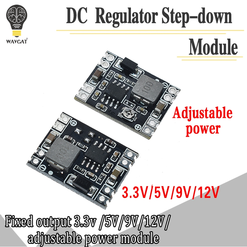 DC-DC Buck Step-down Power Supply Module 5V-12V 24V to 5V 3.3V 9V 12V Fixed Output High-Current image