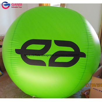 Event decoration inflatable round helium balloon with customized printed promotional price 2m diameter inflatable helium balloon decoration inflatable bulb with light