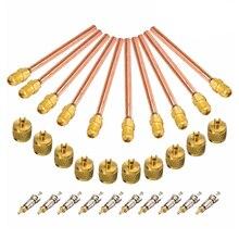 """10 клапан 1/"""" SAE x 1/4"""" OD x """" стержень переменного тока для холодильных систем кондиционирования воздуха"""