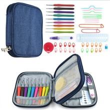 9 Pcs 2.0-6.0mm Soft Looen Crochet Needle Set Handle Knitting Hooks Needles Tools Sets With Case