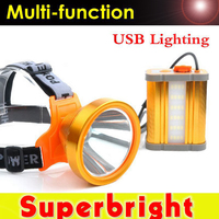 Super bright L2 100W rechargeable lithium battery headlight USB for hunting night fishing headlamp
