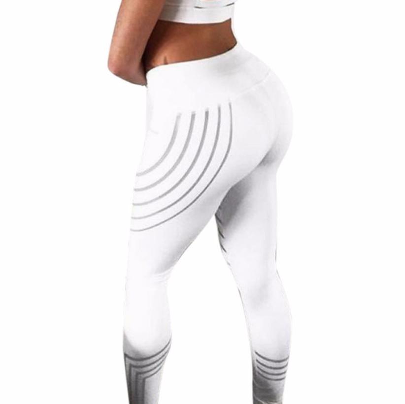 Feitong 2017 Frauen Taille nacht Leuchten Fitness Leggings Ausdehnungshosen Hosen Roupa De Ginástica gb2