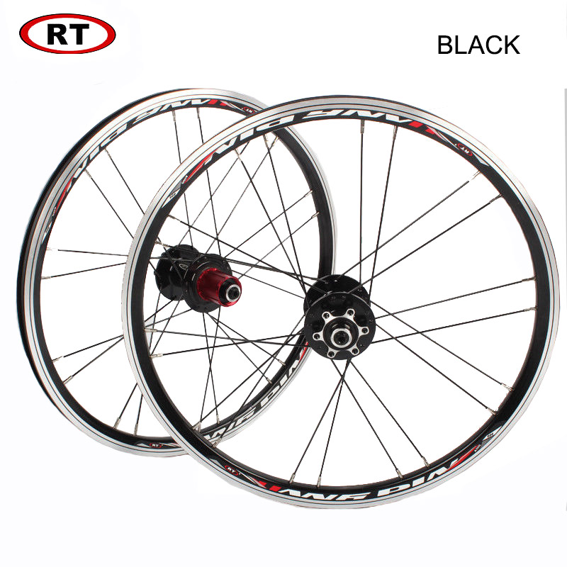 "Image 2 - 20"" Folding Bike Wheels Front Rear wheels set 100/135mm V&Disc brake 451/406 7 10s Aluminum Rims For BMX Bicycle Wheelset-in Bicycle Wheel from Sports & Entertainment"