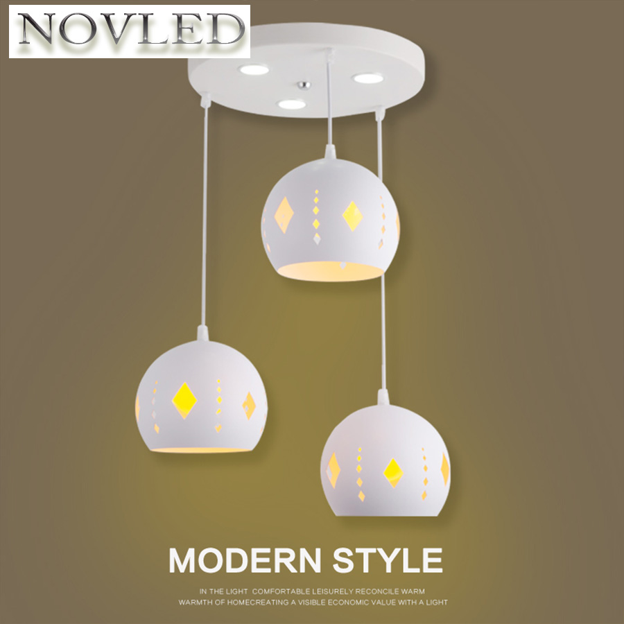 Nordic Lighting Restaurant Chandelier Personality Creative Three-headed Light Bar Living Room Modern Minimalist Hanging Lamp modern circle tree branch led pendant light creative personality firefly dia 210cm nordic living room restaurant hall lobby lamp