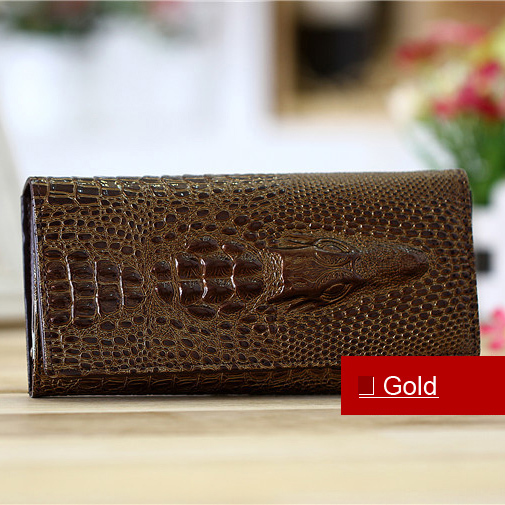 Fashion New High Quality Women Wallets Crocodile Pattern PU Leather Multi Colors Card Holders Clutch Wallet For Free Shipping yuanyu new 2017 hot new free shipping crocodile leather women handbag high end emale bag wipe the gold