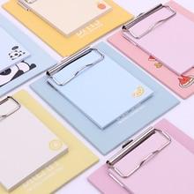 цена 1PC Cute Kawaii Memo Pad With Pad Clip Sticky Notes Memo Notebook Stationery Note Paper Stickers Office School Supplies онлайн в 2017 году
