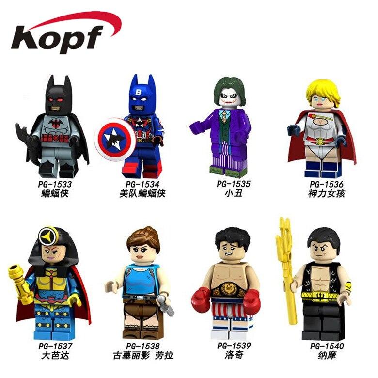Single Sale Building Blocks Super Heroes Black Captain America Laurea Lodge Action Figures Toys Collection Children Gift PG8125