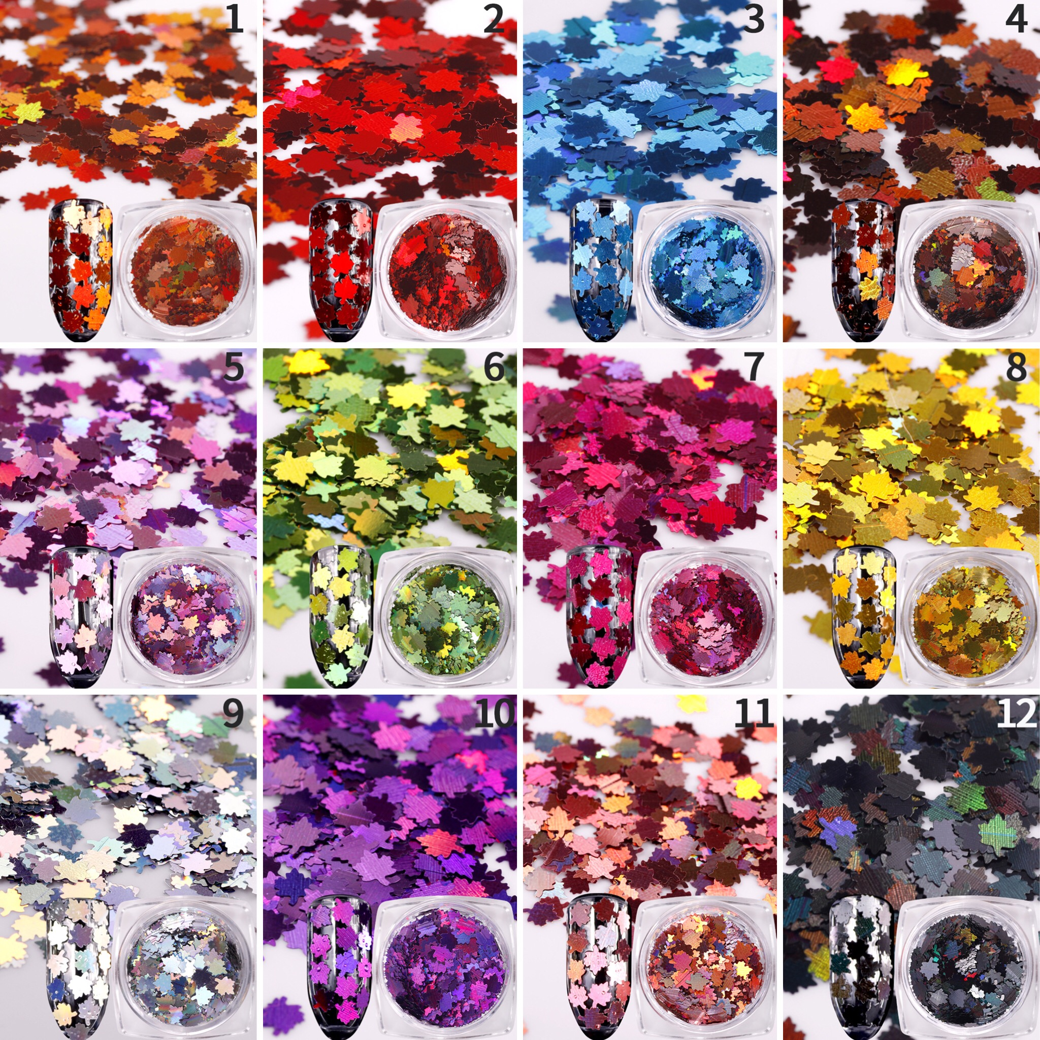 Crystal Crackle Mosaic Sequins Oval 1.5 inch Large Couture Paillettes