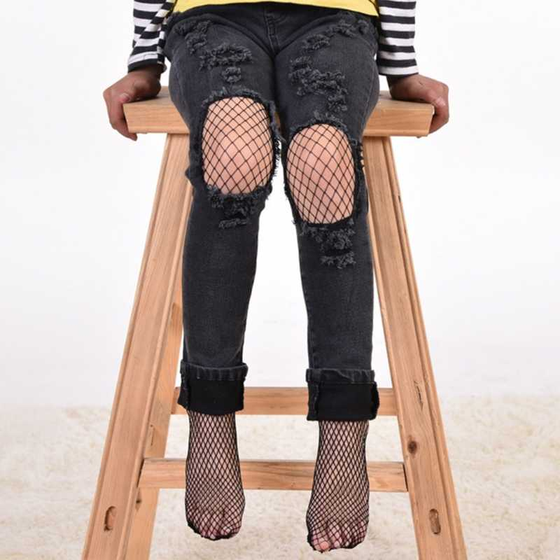 Girls Fashion Mesh Stockings Kids Baby Fishnet Stockings Black Pantyhose Tights