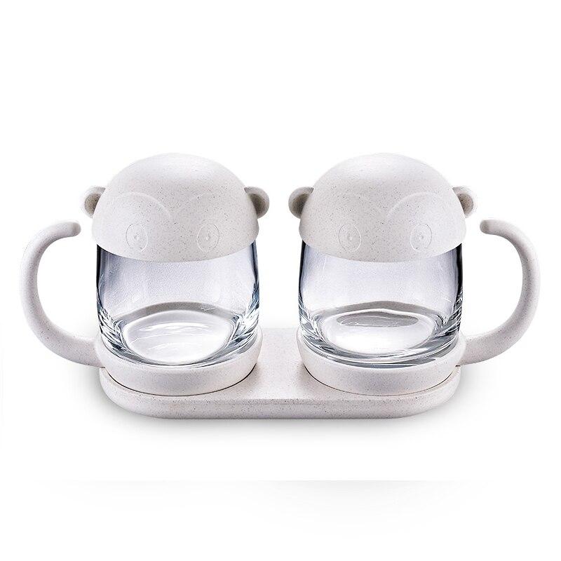 New in Box Monkey Glass Tea Storage Jar