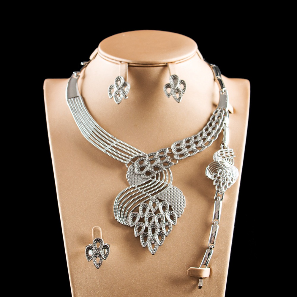 LAN PALACE fashion jewelry sets womens accessories costume jewelry set earrings necklace ring bracelet free shipping