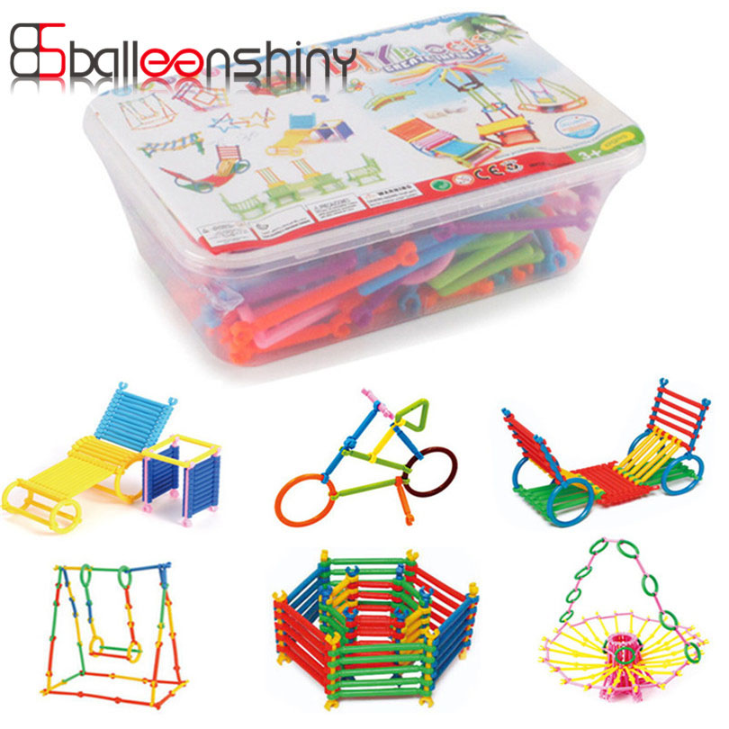 200pcs/set Assembled Building Blocks Toy DIY Early Educational Kids Children Colorful Plastic Blocks For Baby Christmas Gift