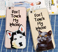 TPU Phone case for iphone 6 6s 6plus 3D Relief Case Funny Dog Cat Husky Pattern Anti-Knock Silicone Bag Cover