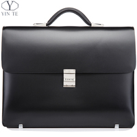 New Arrival Fashion Black Briefcase Men S Business Briefcase Leather High Quality Cow Leather Laptop Messenger