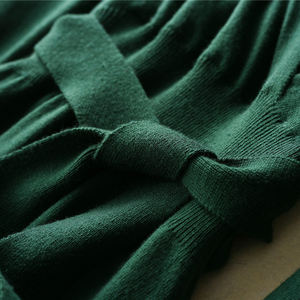 Image 3 - MERRILAMB 2019 האביב האחרון סגנון נשים של סרוג קשמיר צמר שמלה ארוך סגנון מוצק צבע V צוואר שמלות משלוח חינם
