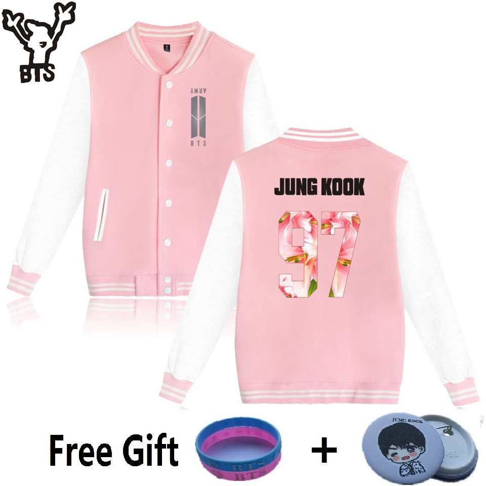 BTS Jacket Kpop Hoodies Women Winter Fashion Popular Bangtan Hip Hop Sweatshirt Women Hoodies Casual Fans Female Baseball Jacket