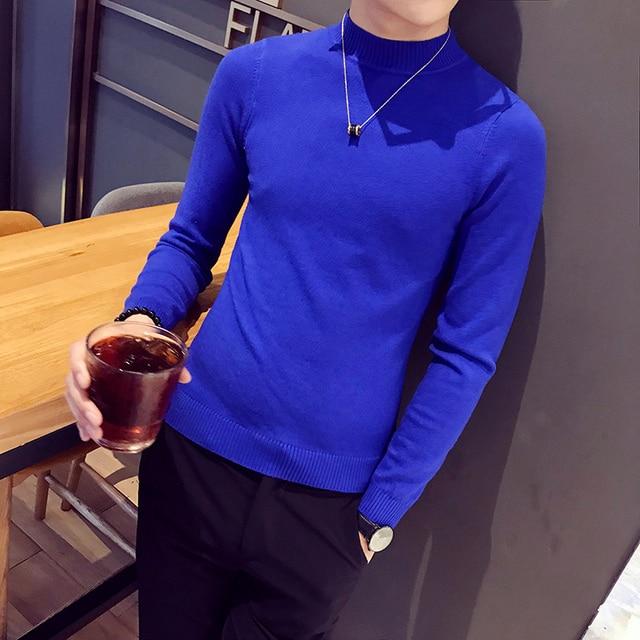 2018 hombres suéter de cachemira marca ropa hombres suéteres moda Casual Camisa  suéter de lana hombres e58bca6339e6