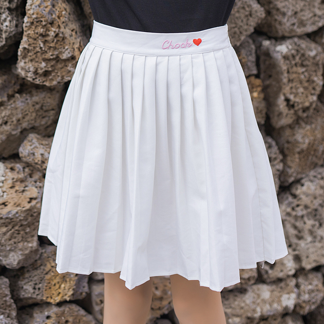 187c5e5ee76 2018 Women s Korean Punk Harajuku Ulzzang Skirts Spring And Summer Female  High Waist Korean College Pleated Skirt For Women