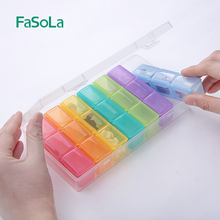 Fasola small medicine box portable for one week