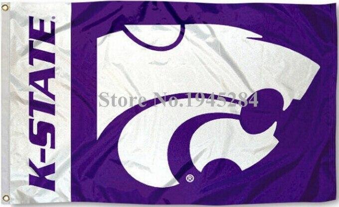 Université NCAA Kansas State Wildcats Mot-Symbole Drapeau Bannière Nouveau 3x5FT 90x150 CM Polyester 9149, livraison gratuite