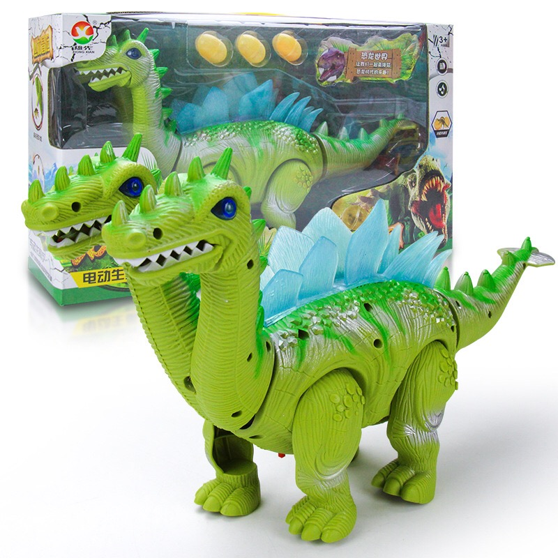 2018 High Quality Electric light  Dinosaur Model Toys With Music Light Can Walk Electric Toys Kids Gifts