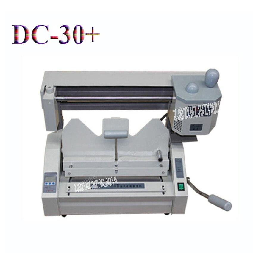 1 Stück Dc-30 + Bindung Maschine, Klebebindung Maschine, Buch Bindung Maschine, Wireless Kleber Buch Binder Maschine Mit Lcd Phantasie Farben