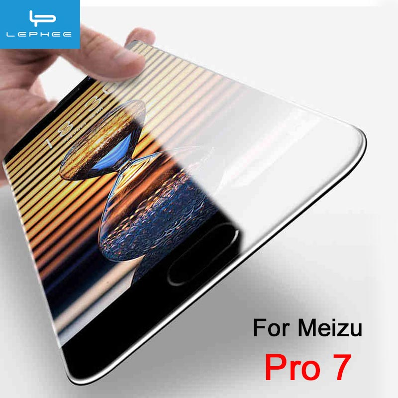 LEPHEE Original For Meizu Pro 7 Tempered Glass On Meizu Pro 7 Plus Protective Glass 9H HD Full Screen Coverage Protector Film