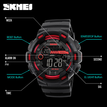 Sport Watches Chrono Countdown Waterproof Digital Watch 4